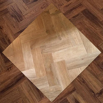 Flooring easy care vinyl collage of 2 tiles with wood effect