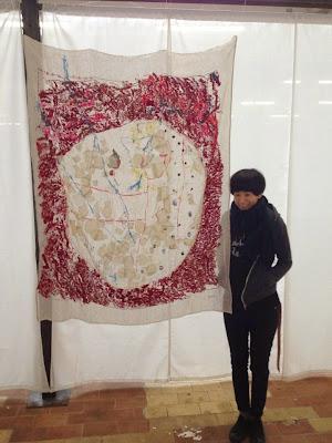 exposition rouge Fiber Art Fever