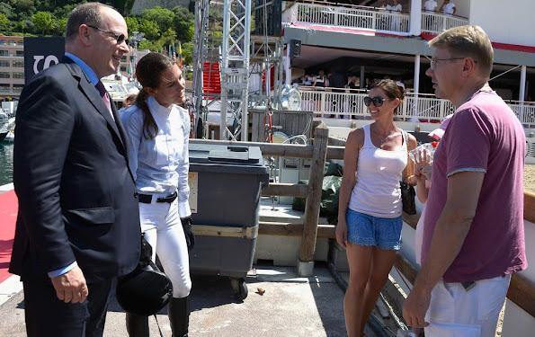 Princess Caroline of Hanover and Prince Albert II of Monaco and Charlotte Casiraghi
