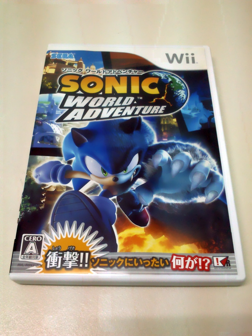 Sonic Unleashed Wii Japan Version - Collectibles -9575