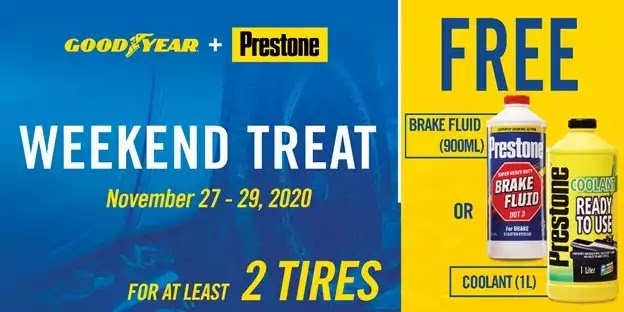 Prestone and Goodyear Weekend Treat Promo