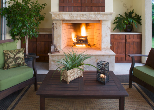 Firestarter news by earthcore how to extend your outdoor - Outdoor living spaces with fireplace ...