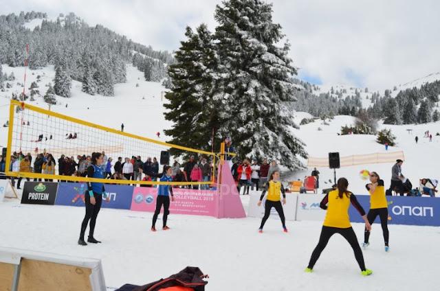 Στο Μαίναλο το πανελλήνιο πρωτάθλημα snow volley του 2020