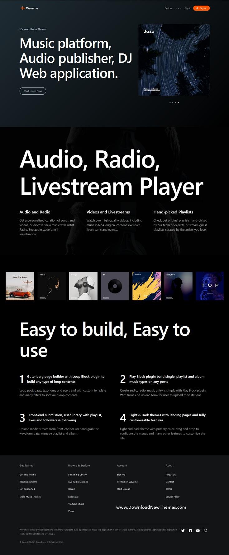 Music Platform WordPress Theme