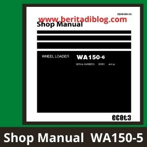 Shop Manual wa150-6 wheel loader komatsu