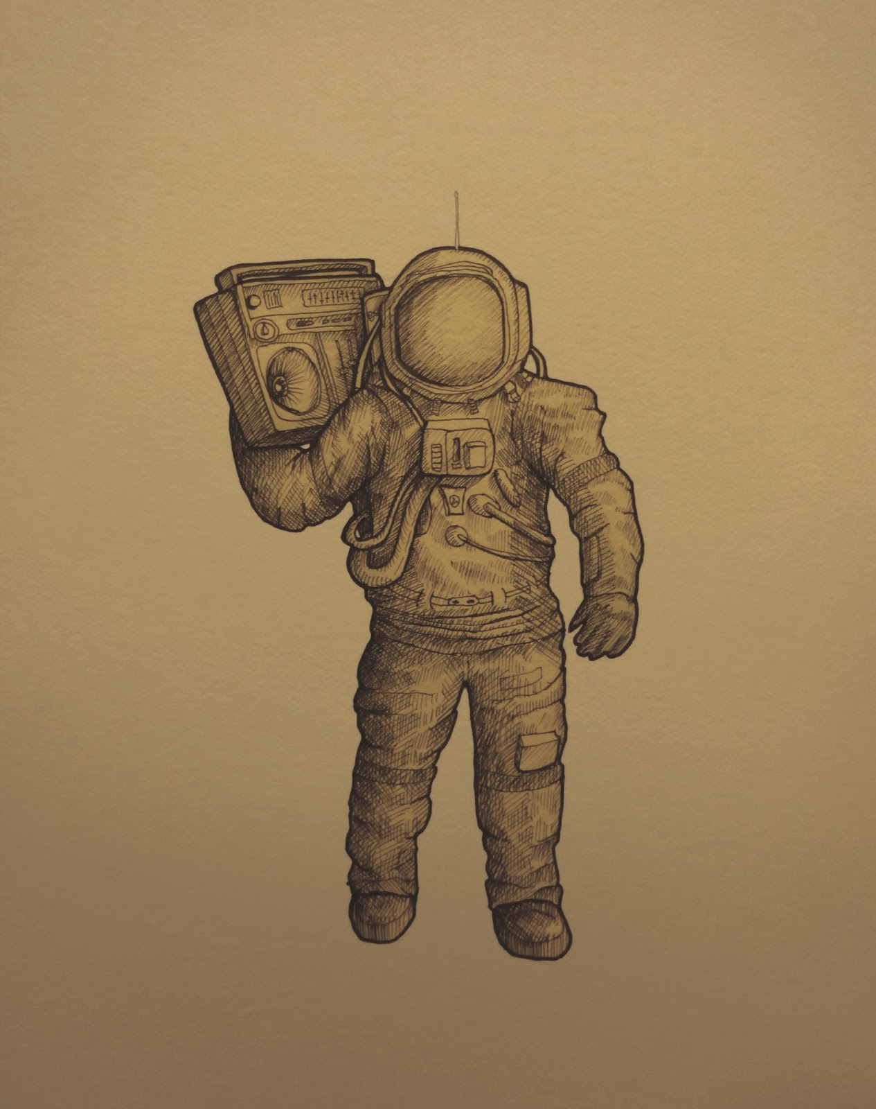 Astronaut Drawing Tumblr - Pics about space