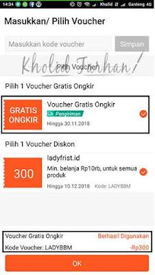Pilih voucher - cara pakai voucher di shopee - Kholid Farhan