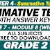 GRADE 2 - 4TH QUARTER SUMMATIVE TEST NO. 4 with Answer Keys (Modules 7-8)