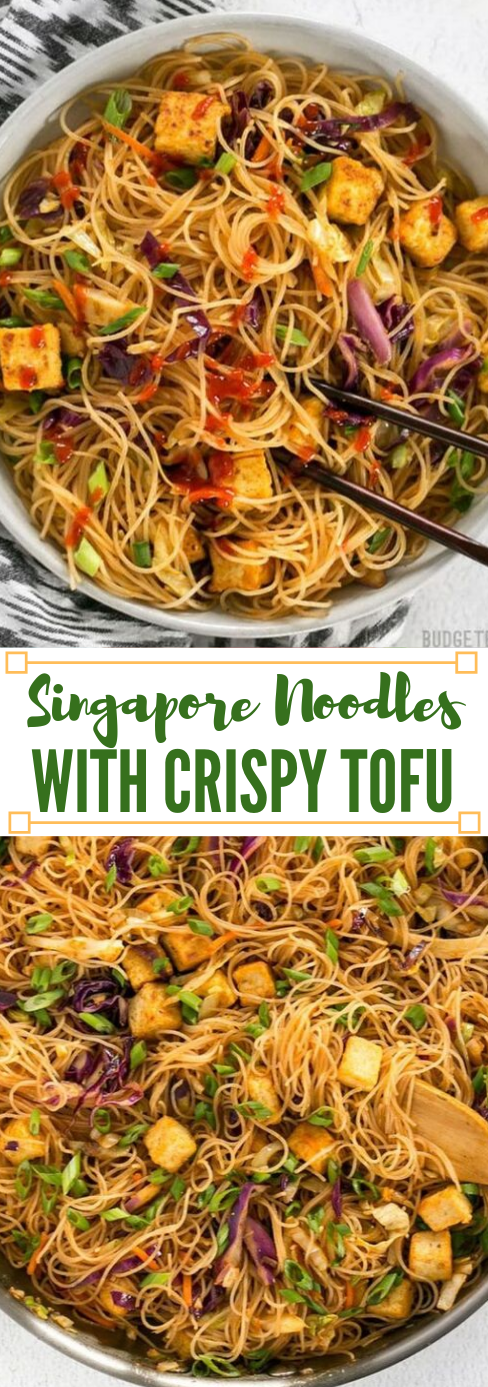 SINGAPORE NOODLES WITH CRISPY TOFU #dinner #healthylunch #breakfast #food #easy