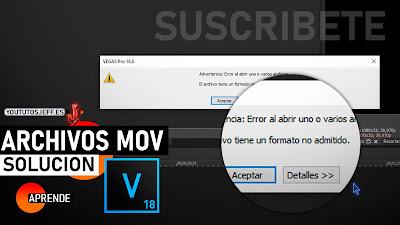 Como Abrir Archivos MOV en Sony Vegas Pro 18