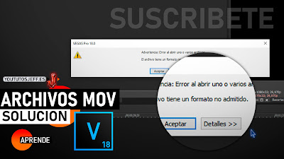abrir videos mov en sony vegas