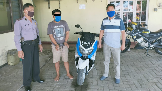 Pelaku Penggelapan Sepeda Motor Diamankan Polisi Polsek Mrebet