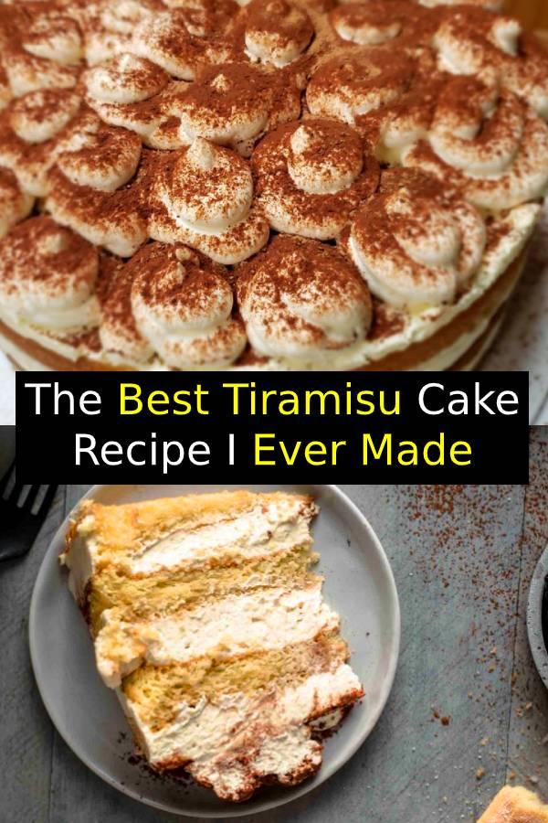 The Best Tiramisu Cake Recipe I Ever Made #tiramisu #tiramisucake #cake #italiandessert #dessert #baking