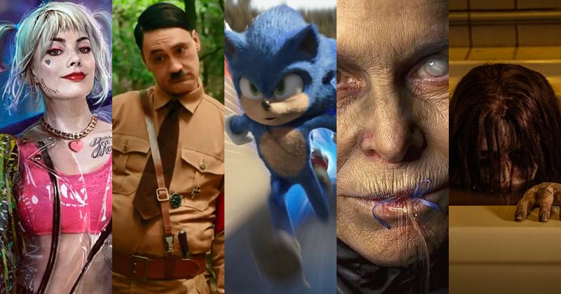 Aves de Rapina, Jojo Rabbit, Sonic: O Filme, Maria e João: O Conto das Bruxas & O Grito