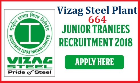 Vizag Steel Recruitment 2018 for 664 Junior Trainee Posts Apply Online  Vizag Steel Plant Recruitment Notification for 664 Junior Trainee Posts with 10th and ITI Qualifications Online Application started from 6th September get complete details about the Notification here vacancies eligibility selection procedure vizag-steel-recruitment-2018-for-664-junior-trainee-posts-apply-online Vizag Steel Recruitment 2018 – Rashtriya Ispat Nigam Ltd (RINL) Jobs for 664 vacancies of Junior Trainees in various disciplines Vizag Steel Plant recruits 664 Junior Trainee Posts. Candidates with SSC, ITI/ Diploma (Engg.) can apply online.