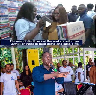 Prophet Jeremiah Omoto Fufeyin Lights up Christmas in Mercy City, Warri with over Thirty Million Naira worth of Gifts to Church Workers
