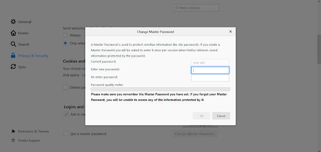 Master Password Hidden Firefox Feature