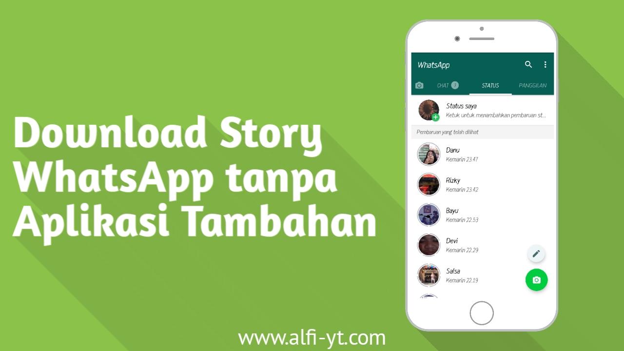Cara Download Story WhatsApp