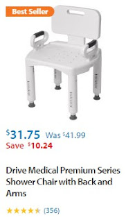 Walmart Shower Chair with Arms and Backrest 1