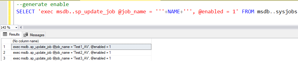 Enable or Disable All Jobs in SQL Server 2