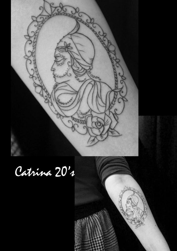 tatouage catrina camé