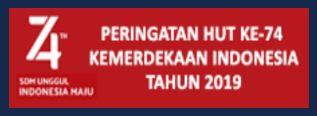 Contoh Spanduk HUT Ke-74 Kemerdekaan RI Tahun 2019, http://www.librarypendidikan.com/