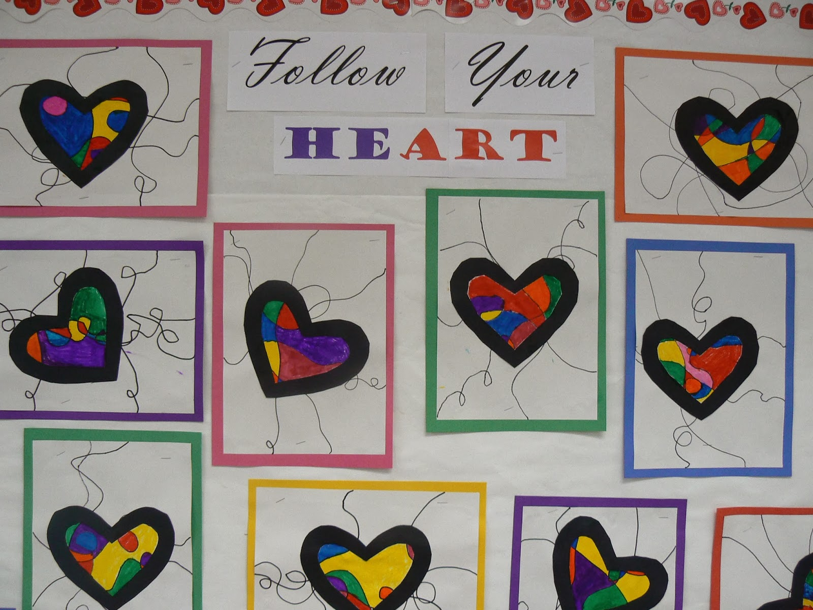 Mrs T S First Grade Class Valentine S Day Bulletin Board