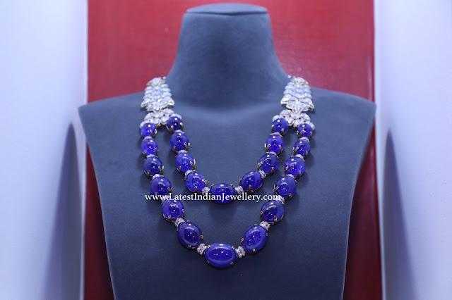 Elite Sapphire Diamond Necklace