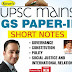 UPSC Mains GS Paper 2 Important Short Notes pdf Download in English