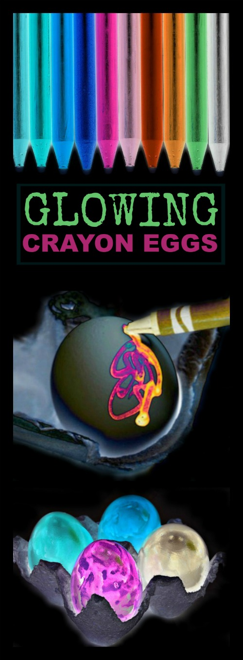 GLOWING CRAYON EGGS (aka the coolest egg decorating idea ever!!)  Pinning!!