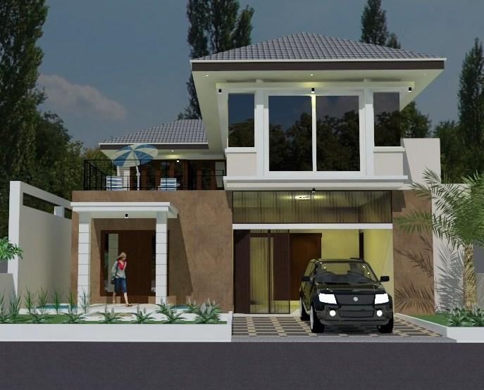 40 Contoh Desain Rumah Minimalis Type 70 Dua Lantai Yang Nampak