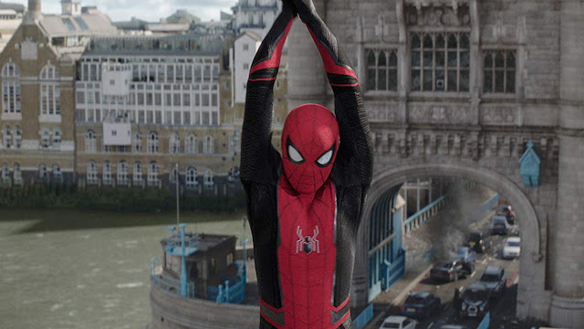 spider-man swings over london
