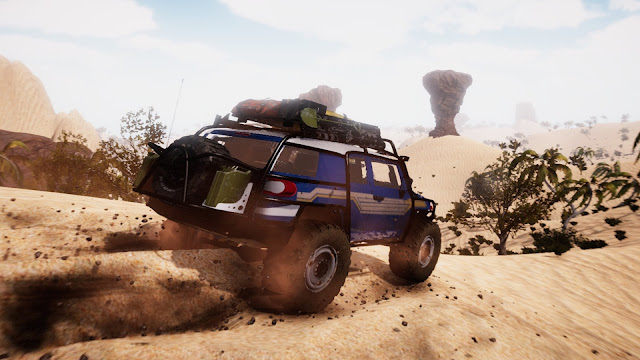 This Amortizer Off-Road. Casual off-roading experience. Linear and open world maps,your vehicle and you. Sit back and drive where no one can…..