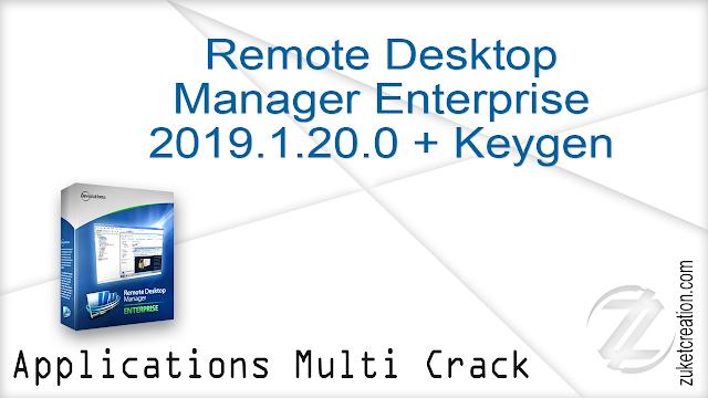Remote Desktop Manager Enterprise 2019.1.20.0 + Keygen   |  176 MB