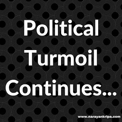 Text Image: Political Turmoil Continues...