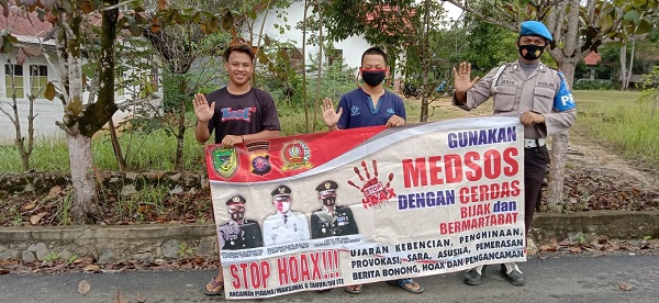 Dukung Aksi Anti Hoax, Polsek Teweh Timur Warga Lawan Berita Hoax