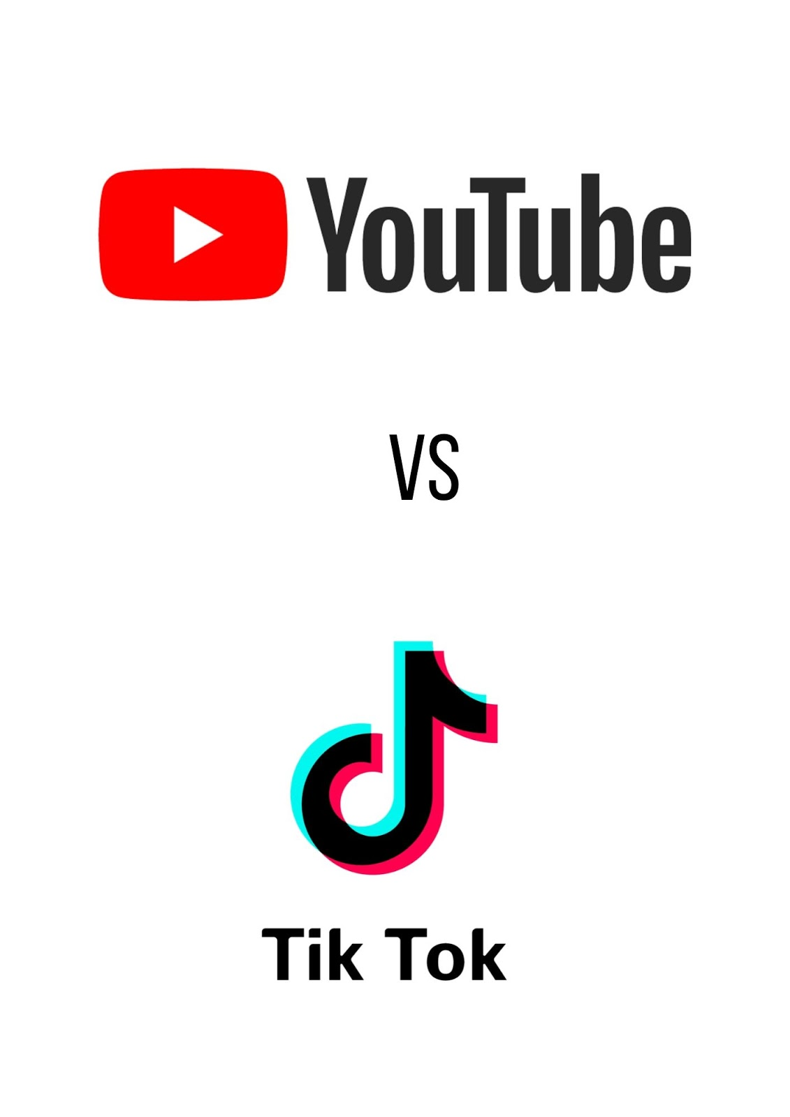 youtube vs tik toker | Who do you support between the ...