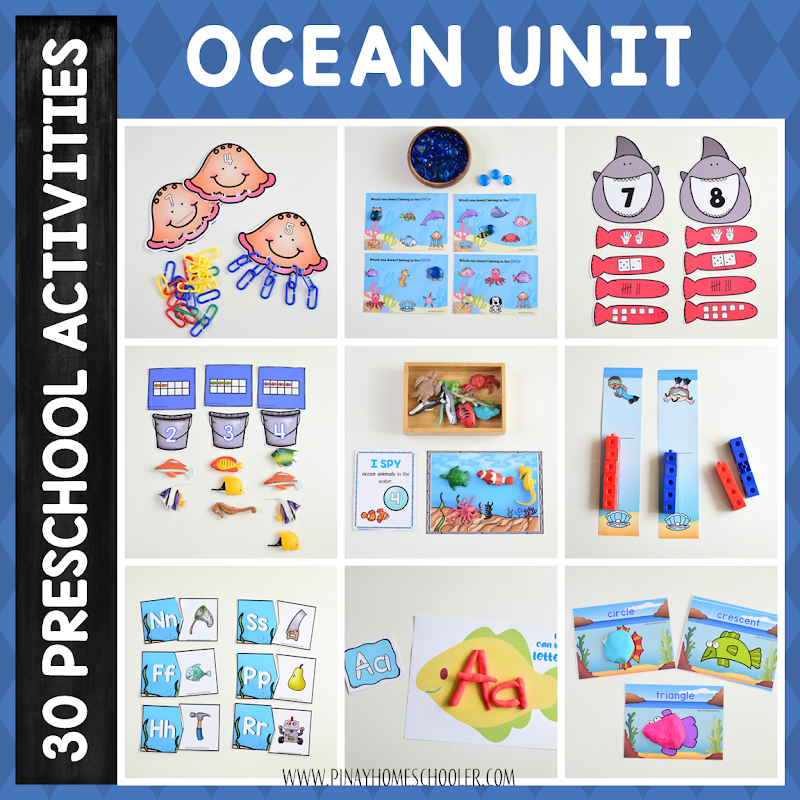 Preschool Unit Ocean Learning Pack