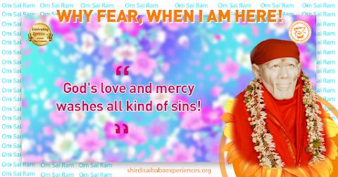 God's Mercy - Sai Baba Idol Picture