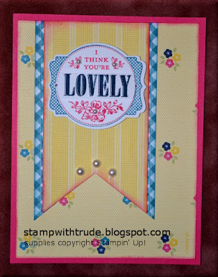 You're Lovely, greeting card, Stamp with Trude, Stampin' Up!