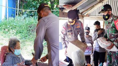 2 Keluarga Penyandang Disabilitas di Sangalla Mendapat Bantuan Sosial dari Polres Tana Toraja