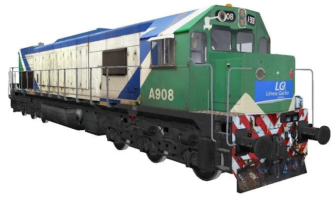 EMD GT22CW-2 A908 - Metropolitano / LGR