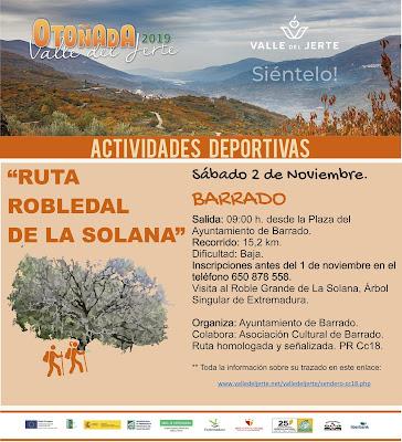 Ruta Robledal de la Solana. 2 de noviembre. Otoñada 2019