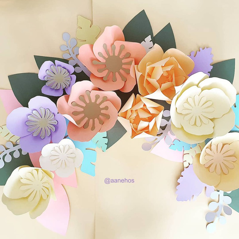 Flores de papel artesanais
