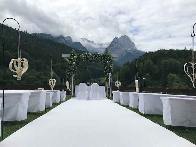 wedding venue at the mountain meadow, Wedding abroad, Mountain wedding lake-side at the Riessersee Hotel Resort Bavaria, Germany, Garmisch-Partenkirchen