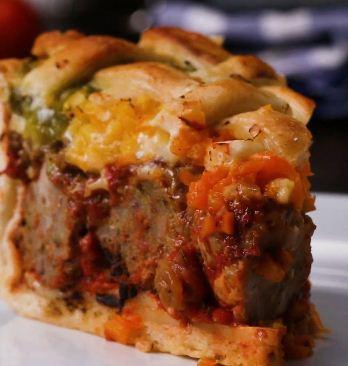 Stuffed Meatball Pie