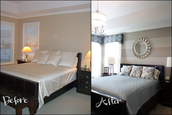 decoração com antes e depois