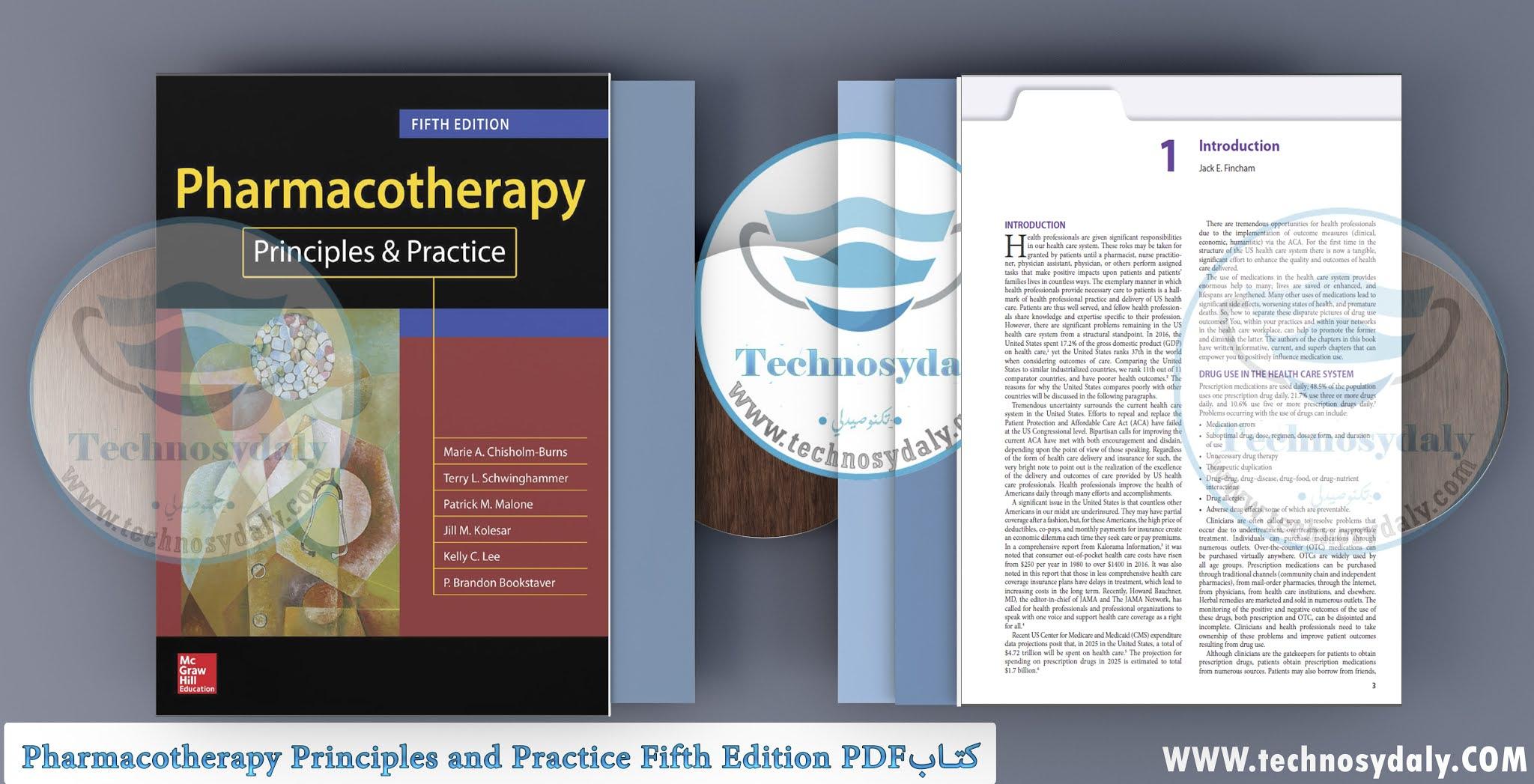 كتابPharmacotherapy Principles and Practice Fifth Edition PDF