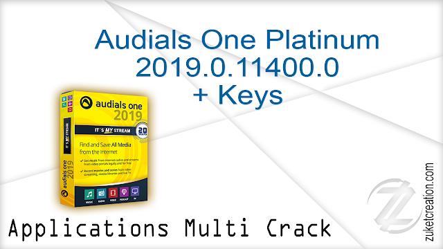 Audials One Platinum 2019.0.11400.0 + Keys   |  140 MB