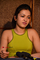 Actress Catherine Tresa Pos during Self Dubbing for Gautham Nanda Movie  0080.JPG